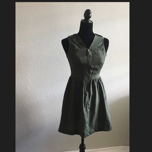 Army style zip up dress